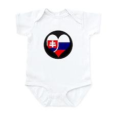 I love Slovakia Flag Infant Bodysuit