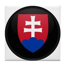 Coat of Arms of Slovakia Tile Coaster
