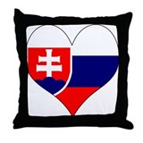 I Love Slovakia Throw Pillow