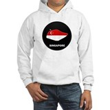 Flag Map of SINGAPORE Jumper Hoody