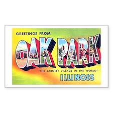 Oak Park Illinois Greetings Rectangle Decal