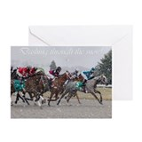 Cute Thoroughbred racing Greeting Cards (Pk of 10)