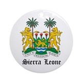 Sierra Leonean Coat of Arms S Ornament (Round)