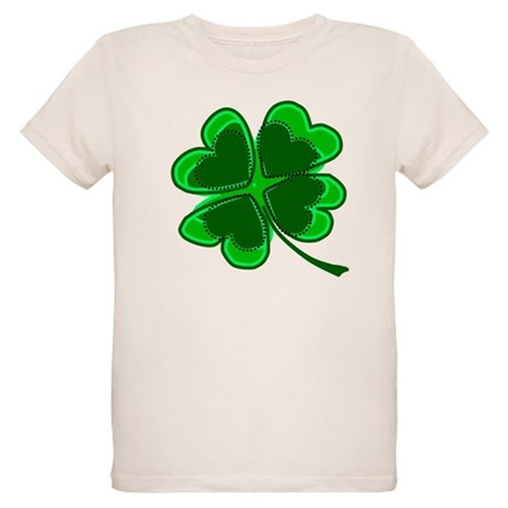 Lucky Four Leaf Clover Organic Kids T-Shirt