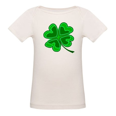 Lucky Four Leaf Clover Organic Baby T-Shirt
