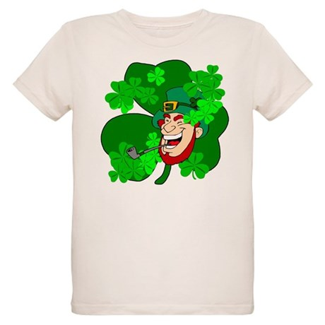 Leprechaun Shamrocks Organic Kids T-Shirt