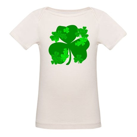 Lucky Irish Shamrocks Organic Baby T-Shirt