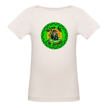 Kiss Me Irish Leprechaun Organic Baby T-Shirt