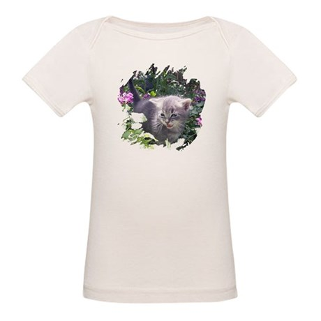 Flower Kitten Organic Baby T-Shirt