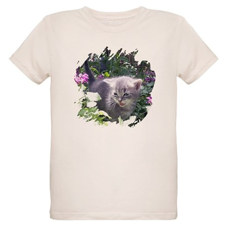 Flower Kitten Organic Kids T-Shirt