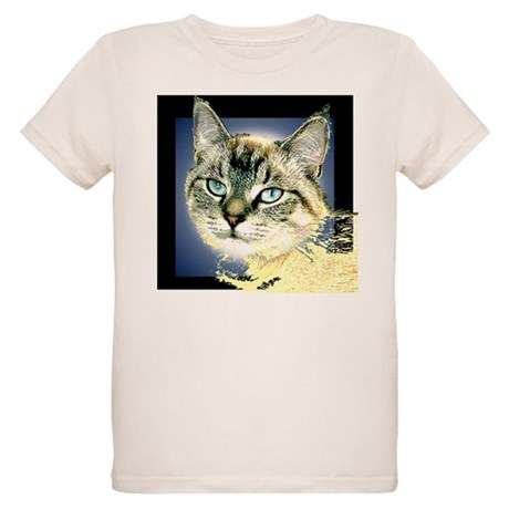 Blue Eyed Kitten Organic Kids T-Shirt