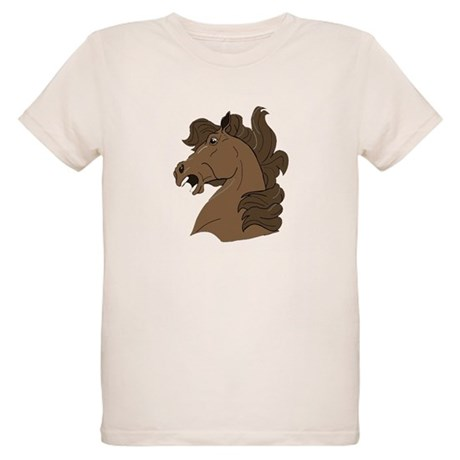 Brown Horse Organic Kids T-Shirt