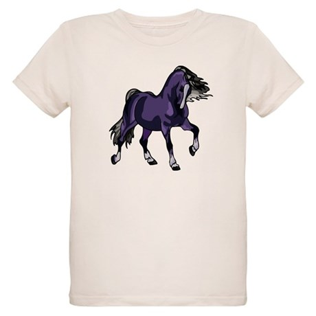 Fantasy Horse Purple Organic Kids T-Shirt