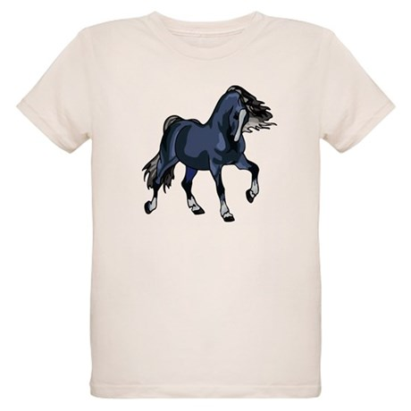Fantasy Horse Blue Organic Kids T-Shirt