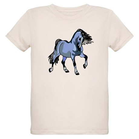 Fantasy Horse Light Blue Organic Kids T-Shirt