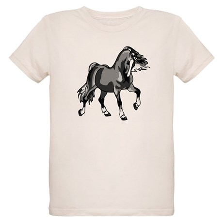 Spirited Horse Gray Organic Kids T-Shirt