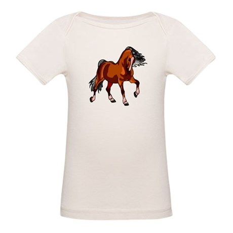 Spirited Horse Red Organic Baby T-Shirt