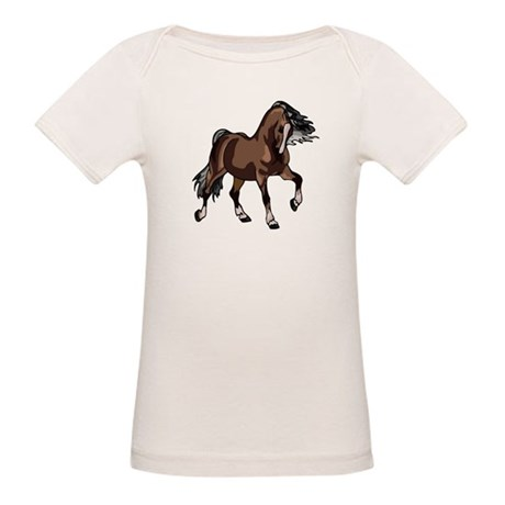 Spirited Horse Dark Brown Organic Baby T-Shirt