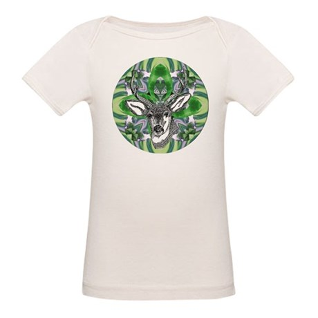 Kaliedoscope Deer Organic Baby T-Shirt