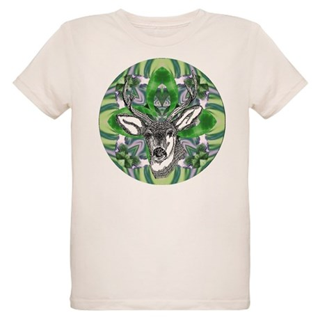 Kaliedoscope Deer Organic Kids T-Shirt