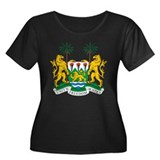 Sierra Leone Coat of Arms Women's Plus Size Scoop