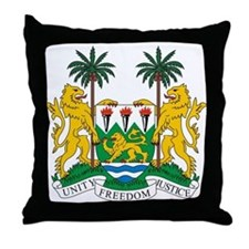Sierra Leone Coat of Arms Throw Pillow