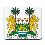 Sierra Leone Coat of Arms Mousepad