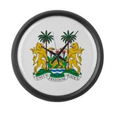 Sierra Leone Coat of Arms Large Wall Clock