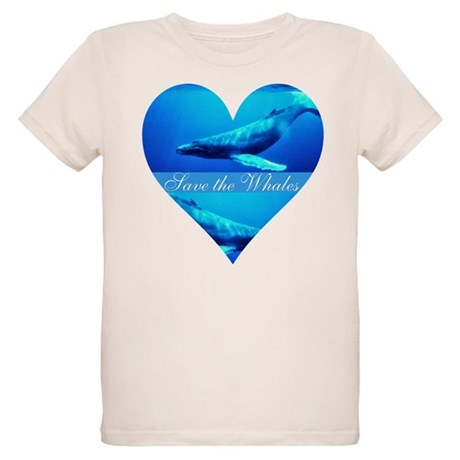 Save the Whales Organic Kids T-Shirt