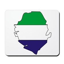 Sierra Leone Flag Map Mousepad