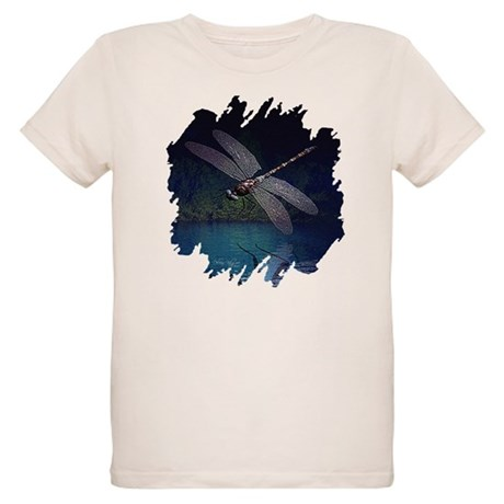 Dragonfly at Night Organic Kids T-Shirt