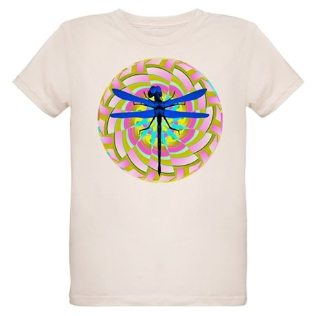 Kaleidoscope Dragonfly Organic Kids T-Shirt