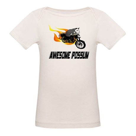 Flaming Awesome Possum Organic Baby T-Shirt