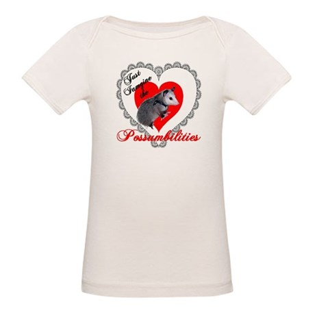 Possum Valentines Day Heart Organic Baby T-Shirt