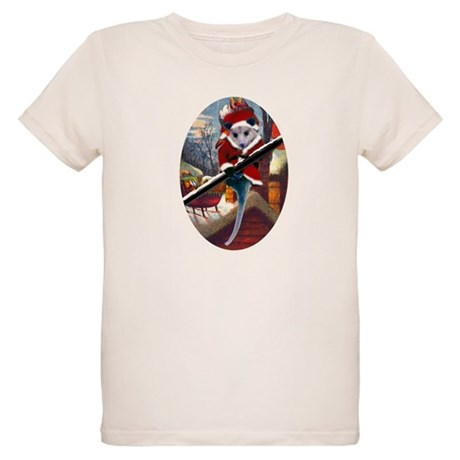 Possum Santa on Rooftop Organic Kids T-Shirt