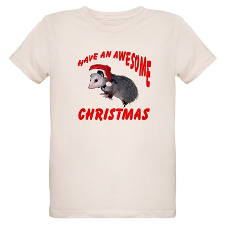 Santa Helper Possum Organic Kids T-Shirt