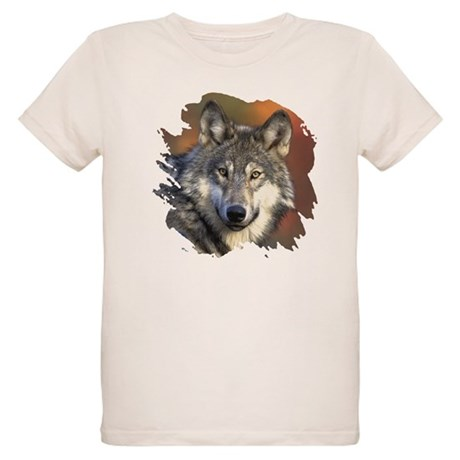 Gray Wolf Organic Kids T-Shirt