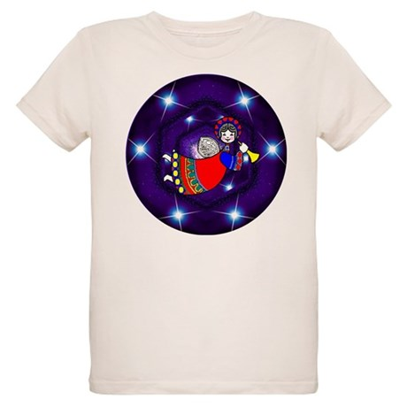 Christmas Angel Organic Kids T-Shirt