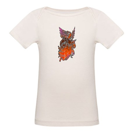 Pretty Orange Angel Organic Baby T-Shirt