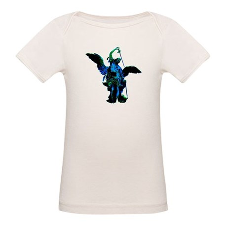 Powerful Angel - Blue Organic Baby T-Shirt