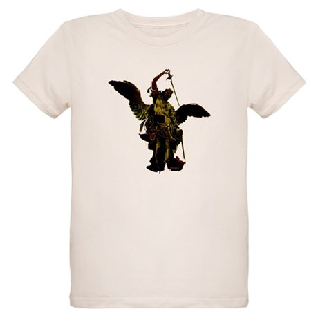 Powerful Angel - Gold Organic Kids T-Shirt