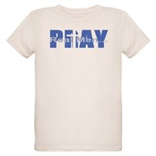 Real Men Pray - Azure T-Shirt