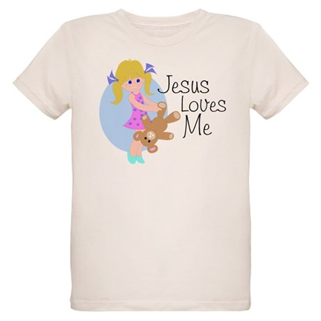 Jesus Loves Me Organic Kids T-Shirt