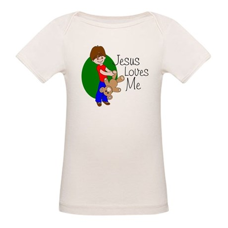 Jesus Loves Me Organic Baby T-Shirt