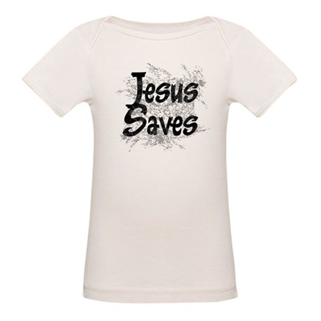 Jesus Saves Organic Baby T-Shirt