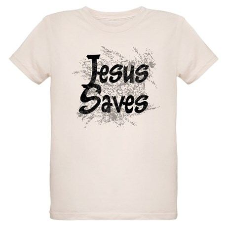 Jesus Saves Organic Kids T-Shirt