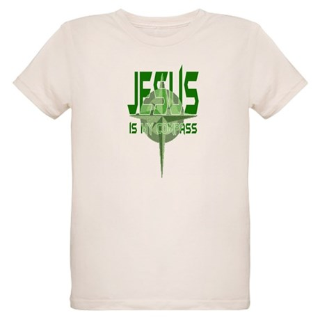 Jesus is My Compass - Green Organic Kids T-Shirt