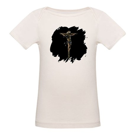 Jesus on the Cross Organic Baby T-Shirt