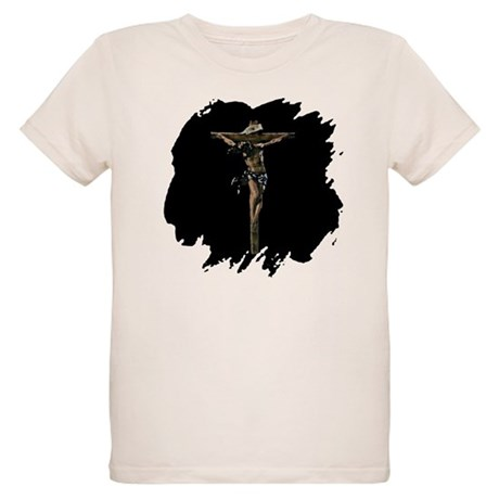 Jesus on the Cross Organic Kids T-Shirt