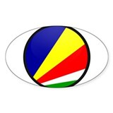 seychelles Islands Oval Decal